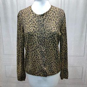Lauren Ralph Lauren Leppard Blouse XL